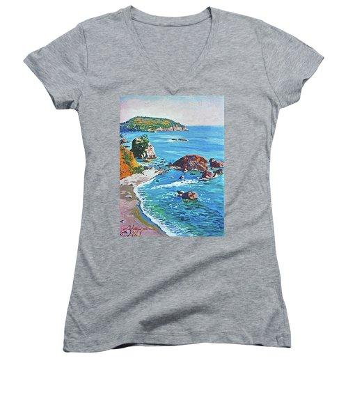 California Coastline Women's V-Neck