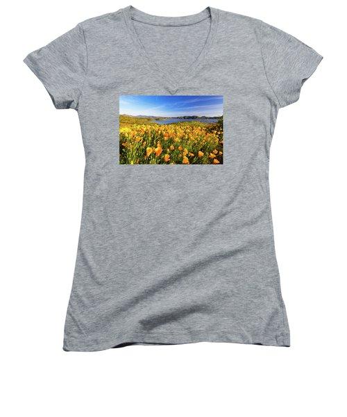 California Dreamin Women's V-Neck T-Shirt