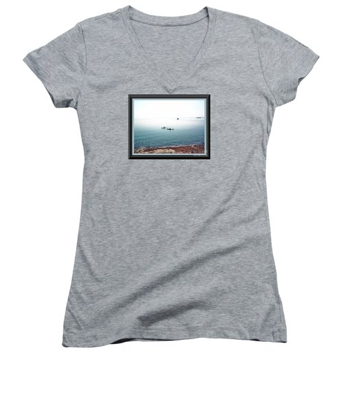 Calm Lake Superior Women's V-Neck (Athletic Fit)