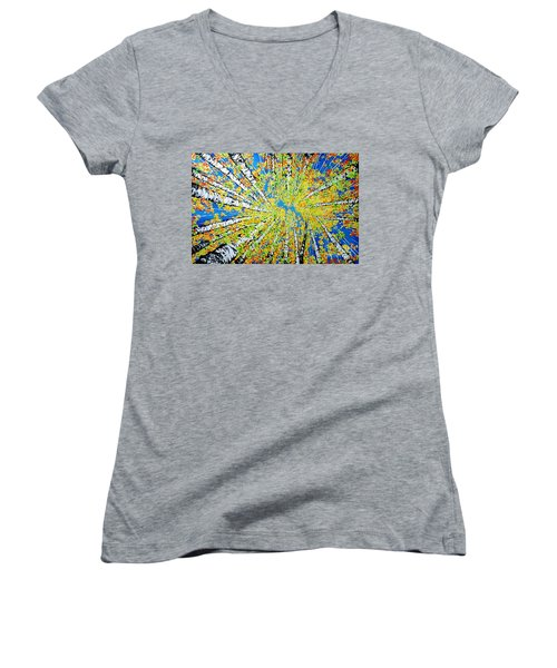 Calming Canopy Women's V-Neck T-Shirt