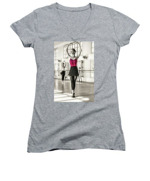 Camaguey Ballet 1 Women's V-Neck (Athletic Fit)