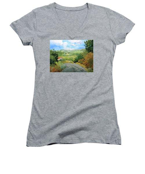 Cambria Countryside Women's V-Neck T-Shirt