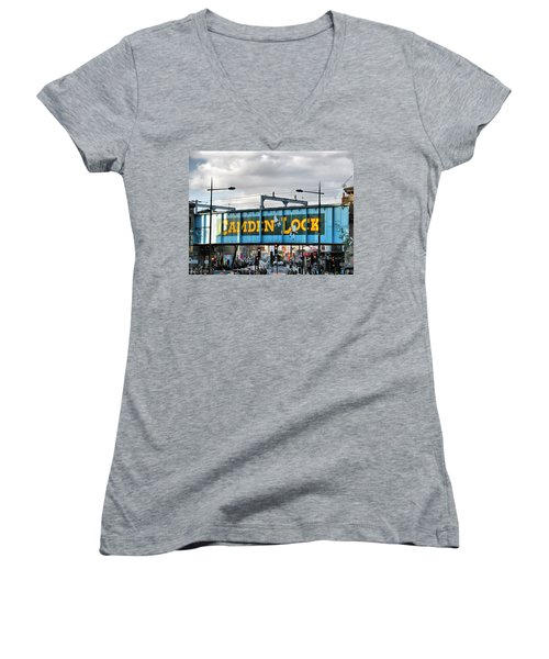 Camden Lock Women's V-Neck T-Shirt