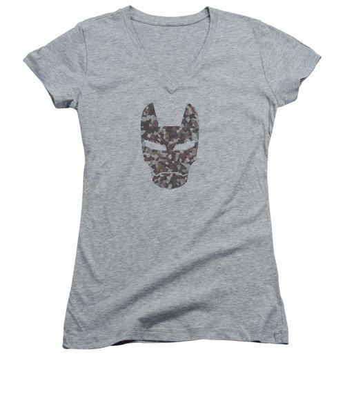 Camouflage Mask Women's V-Neck T-Shirt