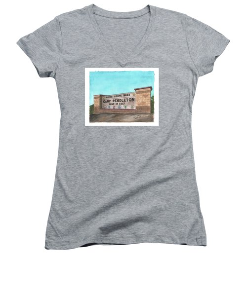 Camp Pendleton Welcome Women's V-Neck