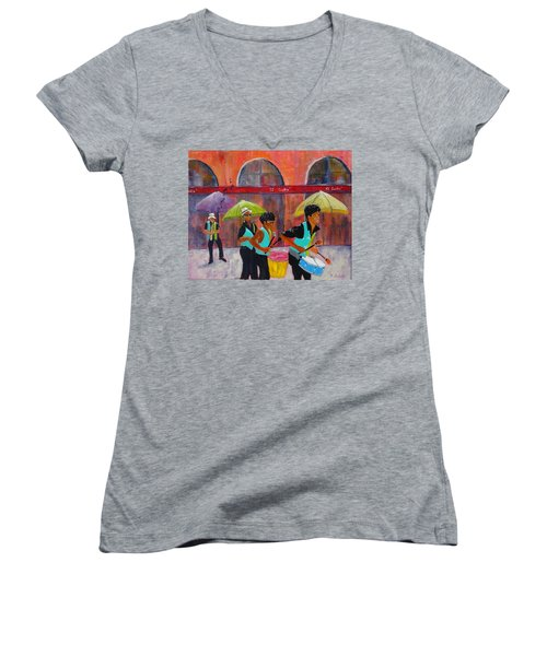 Can You Hear The Music? Women's V-Neck (Athletic Fit)