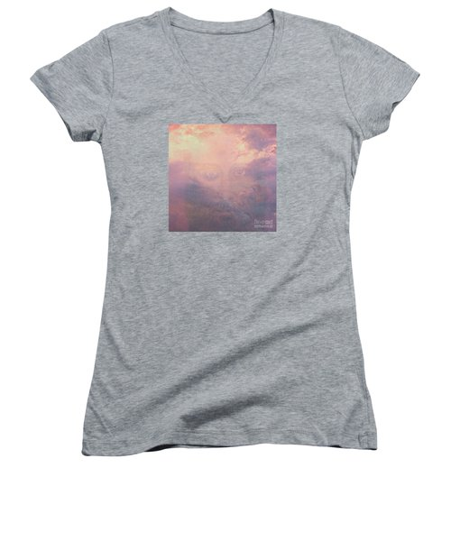 Can You See Him? Women's V-Neck T-Shirt (Junior Cut) by Mindy Bench
