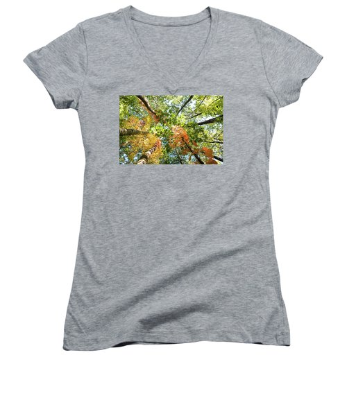 Canadian Foliage Women's V-Neck (Athletic Fit)