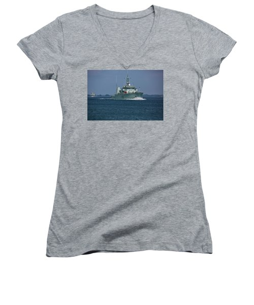 Canadian Navy's Kingston Women's V-Neck (Athletic Fit)