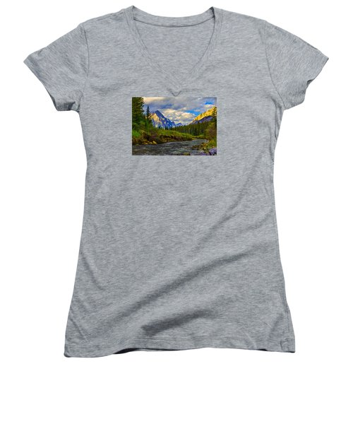 Canadian Rocky Mountains Women's V-Neck T-Shirt