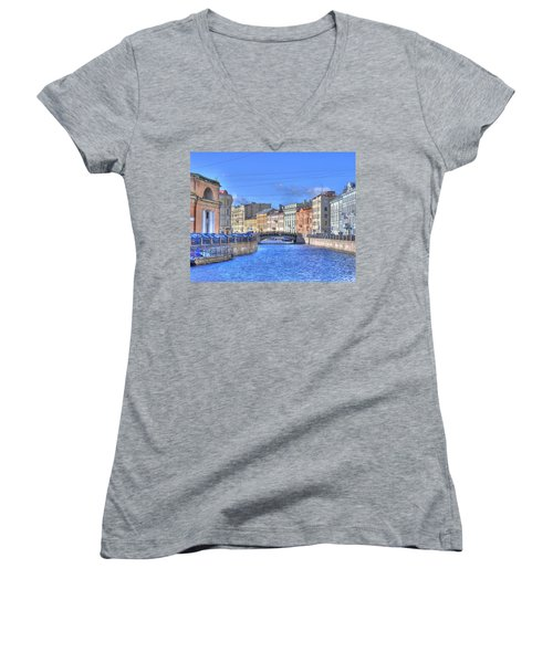 Canal In St. Petersburgh Russia Women's V-Neck