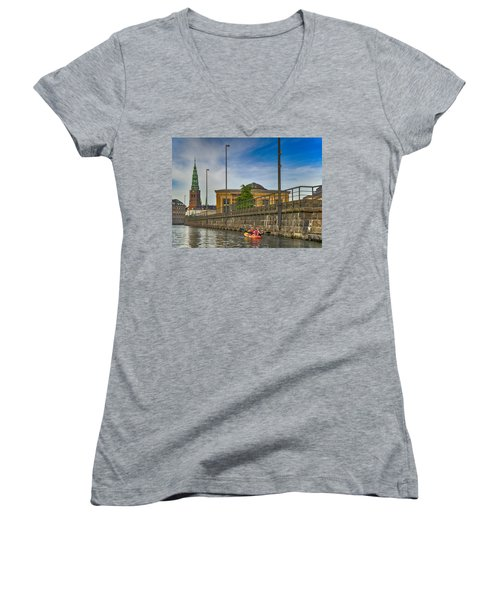 Canal Kayaking In Copenhagen Women's V-Neck
