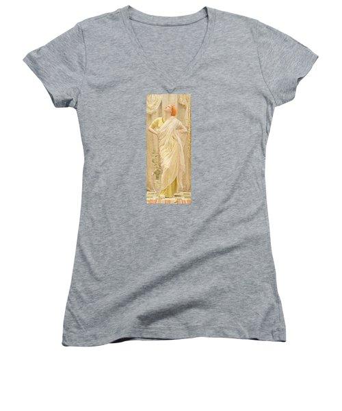 Canaries Women's V-Neck T-Shirt (Junior Cut) by Albert Joseph Moore