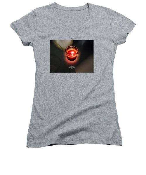 Candle Inspired #1173-3 Women's V-Neck