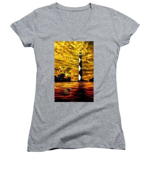 Candle On The Water Women's V-Neck