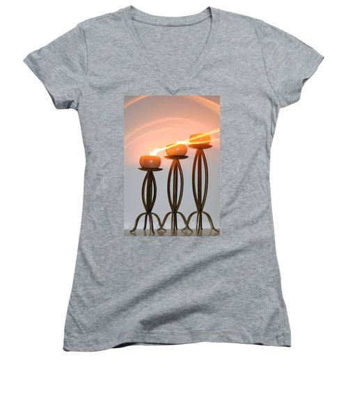 Candles In The Wind Women's V-Neck T-Shirt