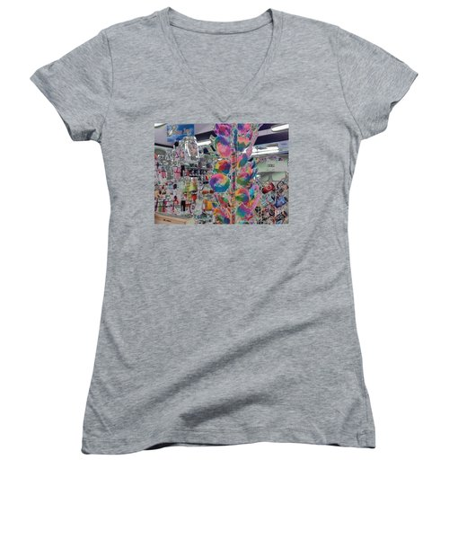 Candy Store Women's V-Neck (Athletic Fit)