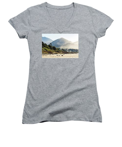 Cannon Beach Oceanfront Vacation Homes Women's V-Neck (Athletic Fit)