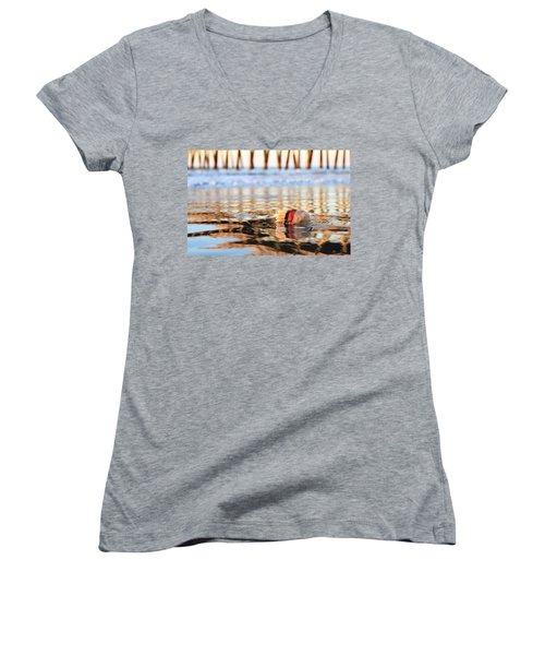Cannonball Jellyfish Beached Women's V-Neck