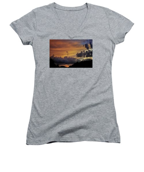 Canyon Sunset Women's V-Neck