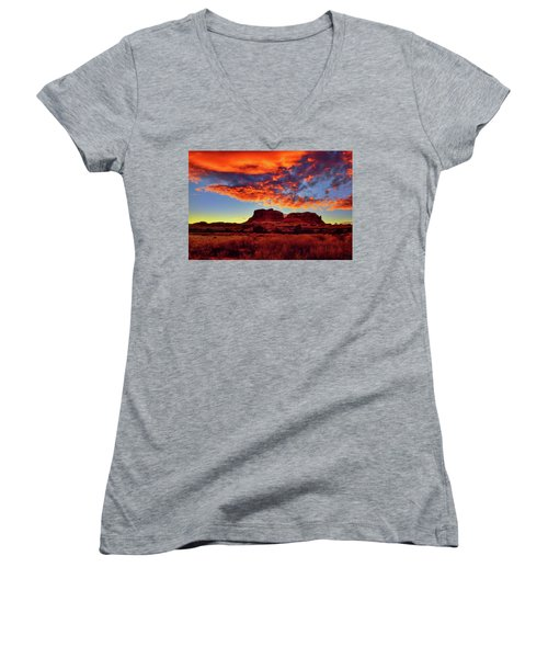 Canyonlands Sunset Women's V-Neck