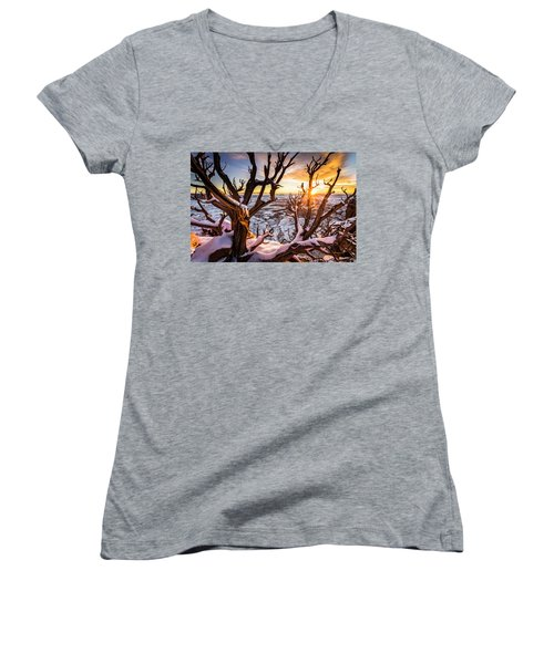 Canyonlands Winter Sunset Women's V-Neck