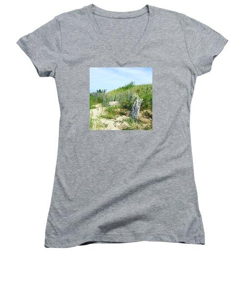 Cape Cod Women's V-Neck T-Shirt (Junior Cut) by Beth Saffer
