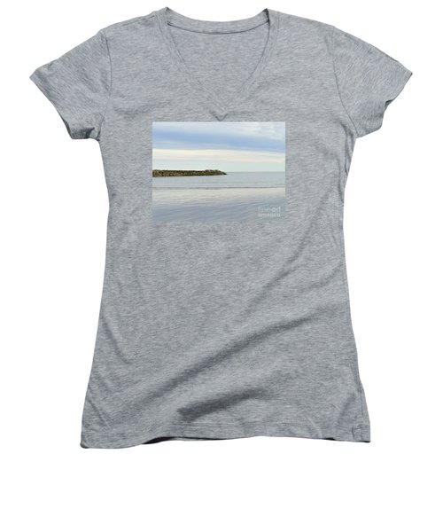 Cape Cod Jetty Sundown Women's V-Neck (Athletic Fit)