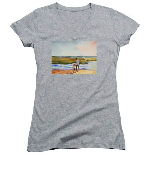 Cape Cod Sunset Women's V-Neck
