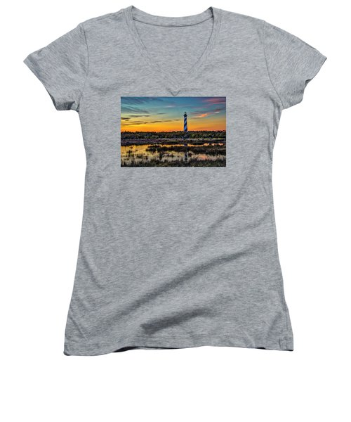 Cape Hatteras Lighthouse Women's V-Neck