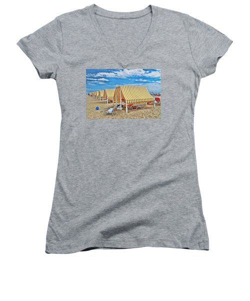 Cape May Cabanas 2 Women's V-Neck