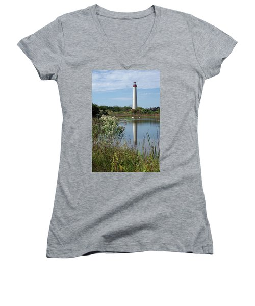 Cape May Lighthouse II Women's V-Neck T-Shirt
