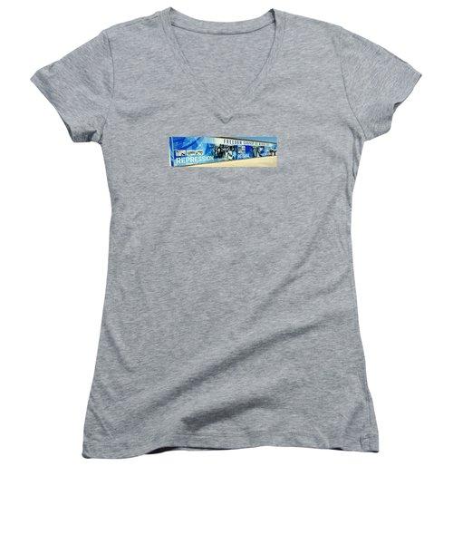 Cape Town Prison Sign Women's V-Neck T-Shirt (Junior Cut) by John Potts