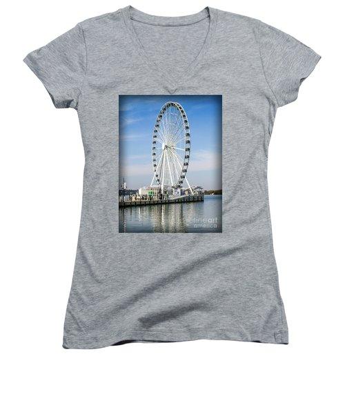 Capital Ferris Wheel Women's V-Neck