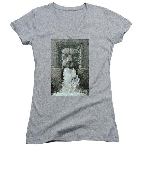 Senate Fountain Lion Women's V-Neck T-Shirt