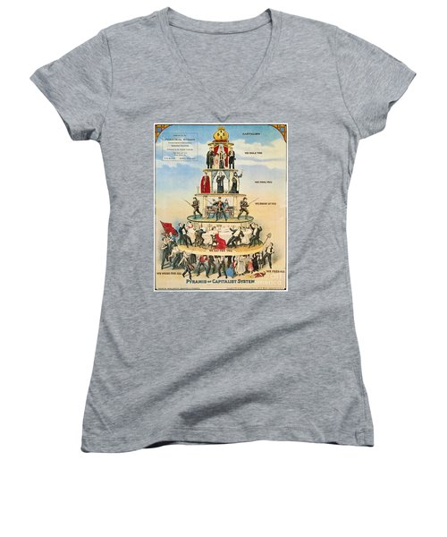 Capitalist Pyramid, 1911 - To License For Professional Use Visit Granger.com Women's V-Neck