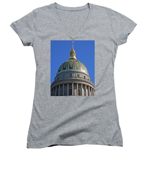 Capitol Dome Charleston Wv Women's V-Neck T-Shirt