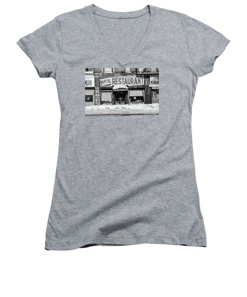 Capitol Restaurant Women's V-Neck (Athletic Fit)
