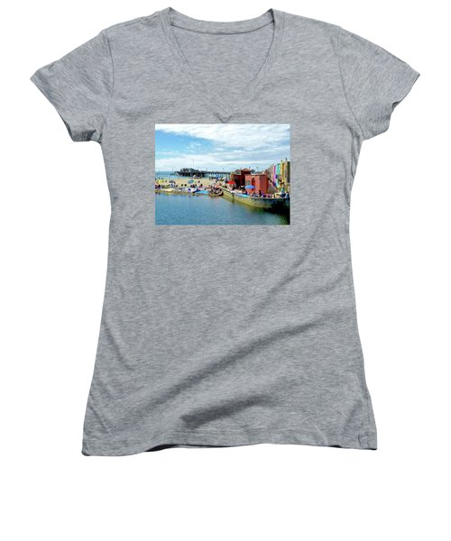 Capitola Begonia Festival Weekend Women's V-Neck (Athletic Fit)