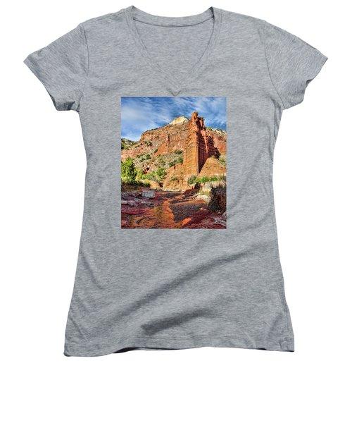 Caprock Canyon Cliff Women's V-Neck