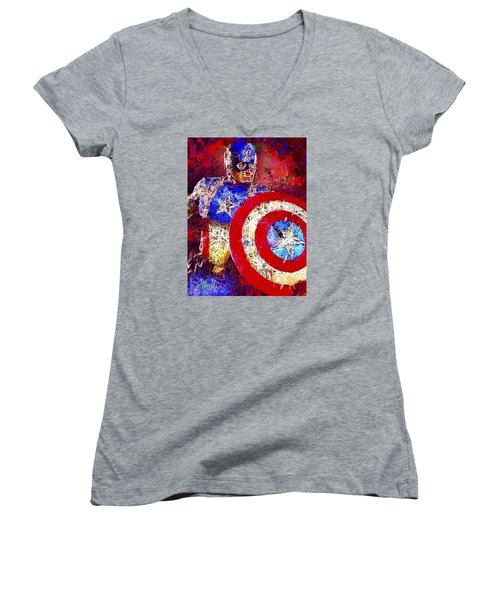 Captain America Women's V-Neck