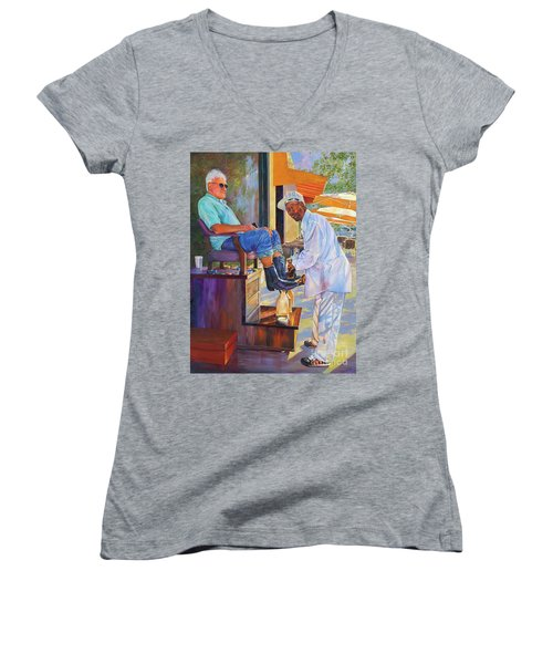 Captain Shoe Shine Women's V-Neck