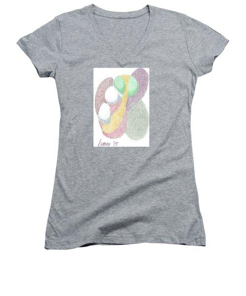 Card 6 Women's V-Neck T-Shirt (Junior Cut) by Rod Ismay