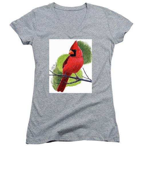 Cardinal1 Women's V-Neck T-Shirt