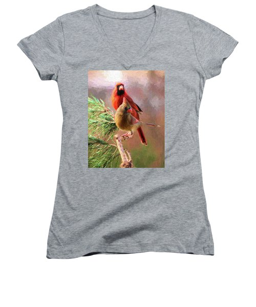 Cardinals2 Women's V-Neck (Athletic Fit)