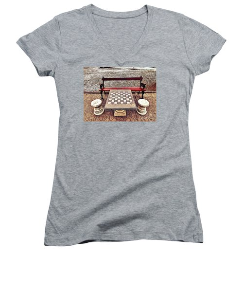 Care For A Game Of Chess? Women's V-Neck (Athletic Fit)