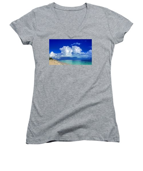 Caribbean Clouds Women's V-Neck