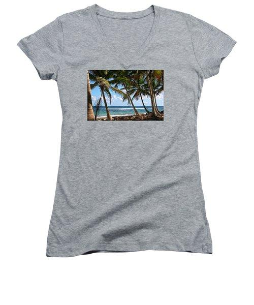 Caribbean Palms Women's V-Neck