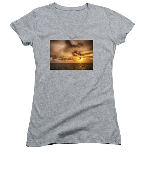 Caribbean Sunrise Women's V-Neck