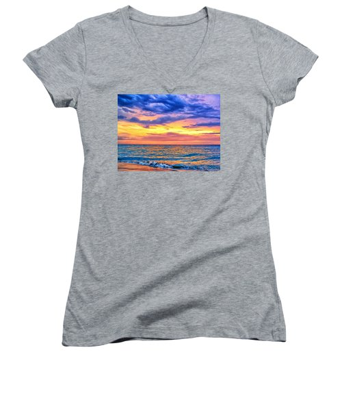 Caribbean Sunset Women's V-Neck
